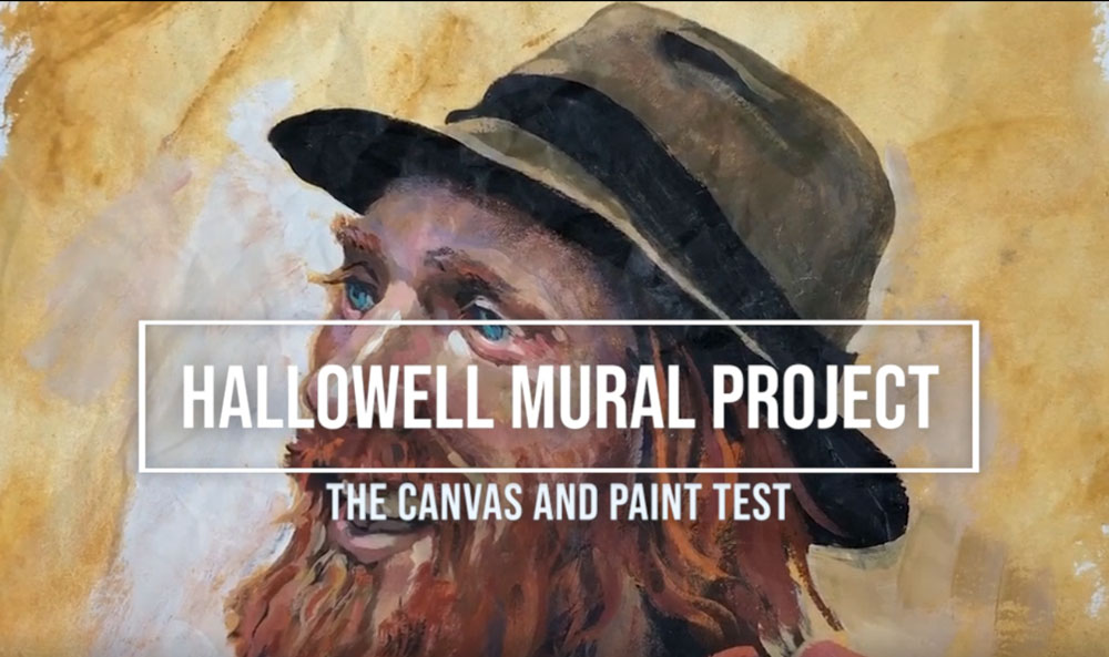 Hallowell Mural: Paint Test